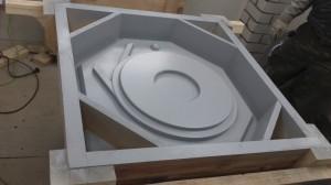 Полуформа, входит в состав модельной оснастки для отливки крыльчатки центробежного насоса